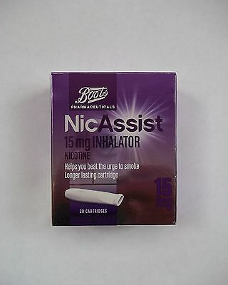 NICASSIST 15mg Inhalator - 20 Cartridges - (same manufacturer as nicorette)