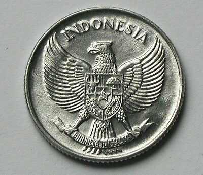 1957 INDONESIA Aluminum Coin - 25 Sen - BU gem UNC lustre - eagle coat of arms
