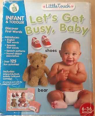 Little Touch LeapPad (Leap Pad) Let's Get Busy, Baby Cartridge Booklet