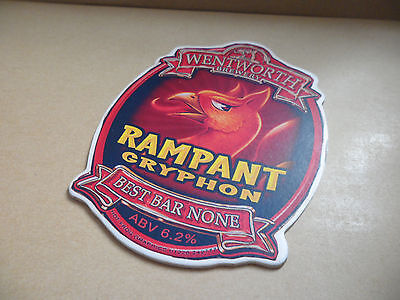 Wentworth Rampant Gryphon Ale Beer Pump Clip Bar Collectible