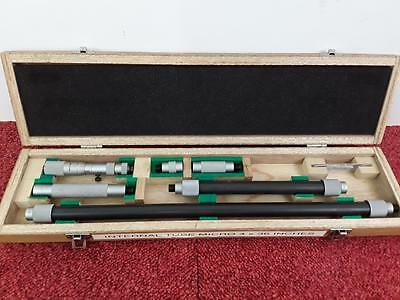 "Mitutoyo 139-179 Extension Tube / Stick Micrometer 4-36"" With Case"