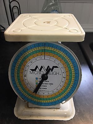 Vintage Micro Weigh Tabletop Scale Rusty Shabby chic Kitchen