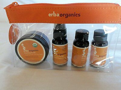 NEW Erbaorganics Mommy To Be Travel Kit USDA ORGANIC Oat Bath, Stretch Mark Oil