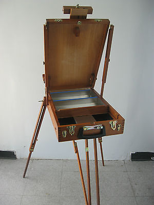 Rare Quality Artist  French Box  Easel Mahogany Wood Brand New (Made in Brazil)