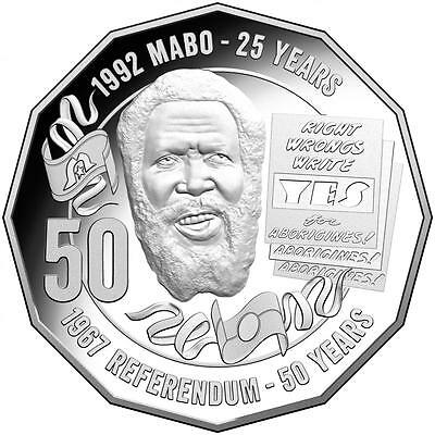 50c fifty Cent Coin 2017 - PRIDE AND PASSION MABO - Uncirculated UNC Mint bag