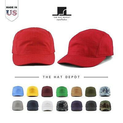 6235dc7a The Hat Depot [MADE IN USA] 5 Panel Running Unstructured Outdoor baseball  Cap