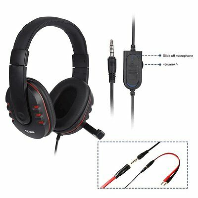 Cascos Auriculares Stereo con micrófono para PC, Sony PS4, Tablet, Xbox One