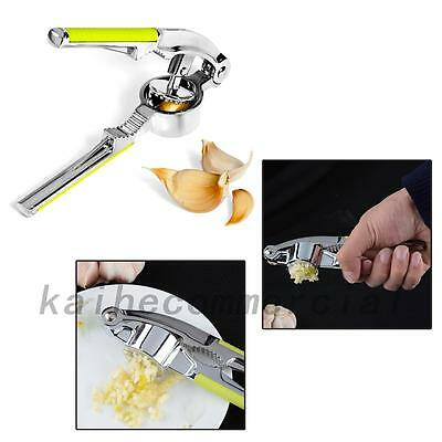 Stainless Steel Garlic Press Crusher Squeezer Masher Home Kitchen Tool