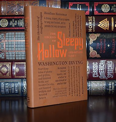 Legend of Sleepy Hollow Rip Van Winkle by W. Irving Deluxe Soft Leather Feel Ed