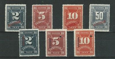 LATIN AMERICA - NY BANKnote Co. SPECIMEN postage due mnh stamps