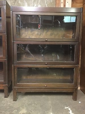 Vintage Wood Barrister Bookcase 46 Tall