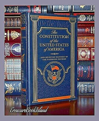 The Constitution of the United States America Leather Bound Sealed Collectible