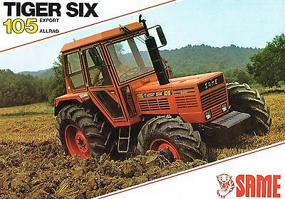 Same Tiger Six 105 Export Allrad, orig. Prospekt 1983