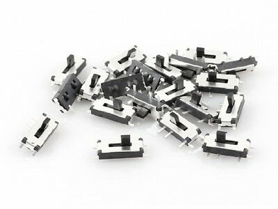 20 Pcs On/Off 2 Position 7 Pins 1P2T SPDT PCB SMD Slide Switch