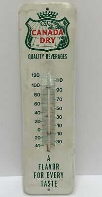 Original Vintage 1960S Canada Dry Metal Thermometer