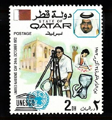 Qatar Sc# 324 United Nations Day October 24, 1972 Mnh