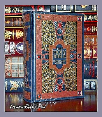 Holy Bible King James Version Gustave Dore Sealed Leather Bound Collectible Ed