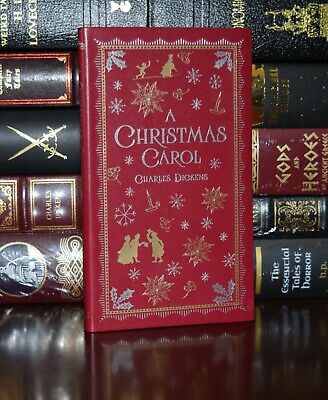 Christmas Carol by Charles Dickens New Deluxe Pocket Leather Bound Classics Gift