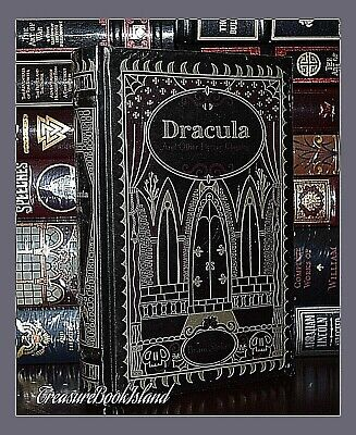 New Dracula Horror Classics Bram Stoker Sealed Leather Bound Collectible Gift