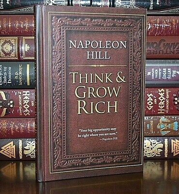 Think and Grow Rich by Napoleon Hill New Deluxe Soft Leather Bound Gift Edition