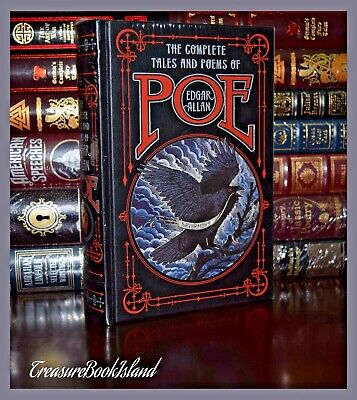 THE COMPLETE TALES & POEMS by EDGAR ALLAN POE Sealed Leather Bound Collectible