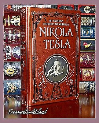Inventions Researches Writings of Nikola Tesla Illustrated Sealed Leather Bound