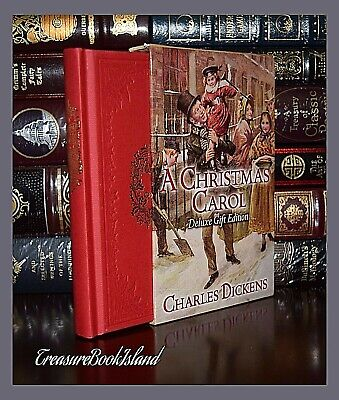 New Christmas Carol by Charles Dickens Deluxe Hardcover Collectible Slipcase