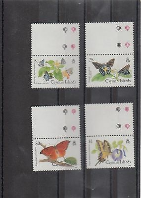 Timbre Stamp  4  Caymans Y&t#621-24 Papillon Butterfly  Neuf**/mnh-Mint 1988~A01