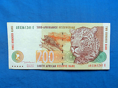 1999 South Africa 200 Rand Banknote *P-127b*       *XF-AU*