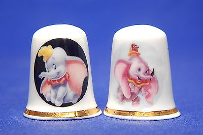 Disney Dumbo Set of 2 China Thimbles B/143