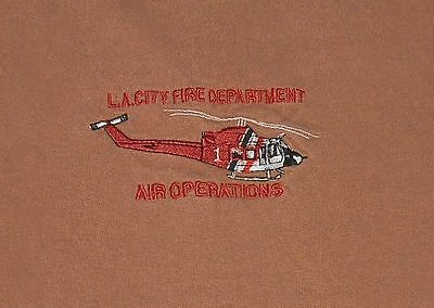 L A LOS ANGELES CITY FIRE DEPARTMENT Dept SoCal Air Operations helicopter shirt