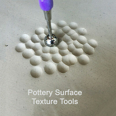 Xiem Large BALL POTTERY SURFACE TEXTURE STYLUS CLAY TOOLS SET of 2