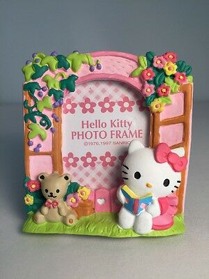 Vintage Sanrio 1997 Hello Kitty Ceramic Photo Frame With Stand New With Tag