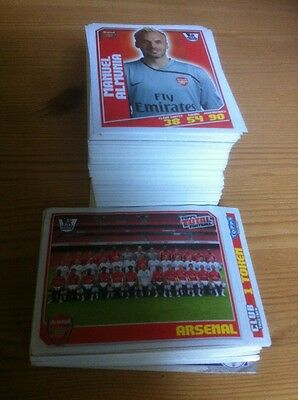 TOPPS MERLINS 2009 (09) Premier League football stickers - 100 Different