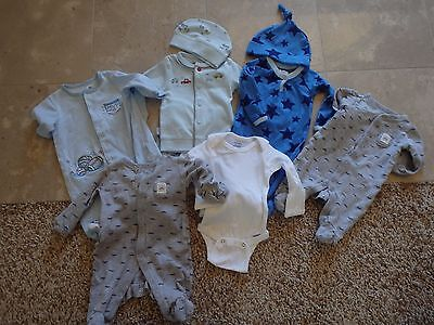 Baby boys size Newborn 0-3 3 months Clothing Lot ~ 6 pieces