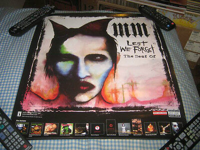 MARILYN MANSON-(lest we forget)-1 POSTER-18X20-NMINT-RARE