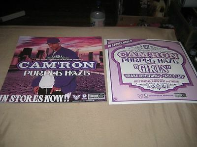 CAM'RON-(purple haze)-1 POSTER-2 SIDED-12X12-NMINT-RARE