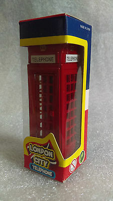 Die Cast LONDON CITY Souvenir RED TELEPHONE BOX with opening Door MINT IN BOX