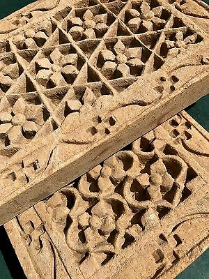 Antique/vintage Indian, Yellow Sandstone Hand-Carved Pierced Panel. Jaisalmer.
