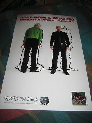 DAVID BYRNE & BRIAN ENO-(everything that happens will happen today)-11X17 POSTER