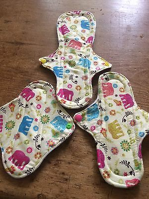 Reusable/ Washable Sanitary Pads,  towel /  Cloth Pads. , Starter Pack X 3