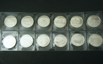 1992 Canada 125th Anniversay of confederation 12 coin set Quarter 25 cent 25c