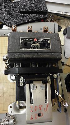 VINTAGE PERFECT GENERAL ELECTRIC CR281 1 E Control Size 3 Relay Starter 208 Coil