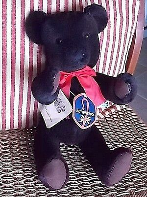 "17"" Dean's British Alpaca Wool Teddy Bear-Growler-W/ Tags-Edwardian Series-Excel"