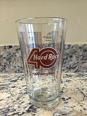 Hard Rock Cafe Beer Glass 40 Year Anniversary HRC San Antonio Pint