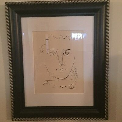 Pablo Picasso * original signed etching (1950's) with certificate of authenticit