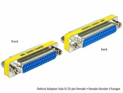 Delock DB-25 D-sub adapter Gender Changer Sub-D female > female with screw nuts