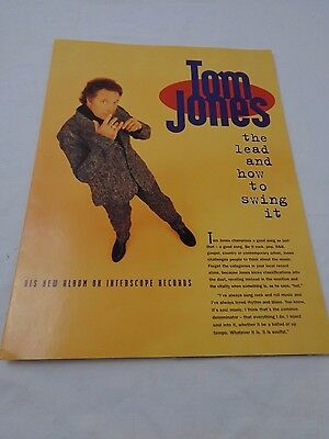 Vintage Tom Jones The Lead and How to Swing It Folder