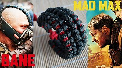 Mad Max Bane's Cuff Paracord Bracelet The Dark Knight Themed