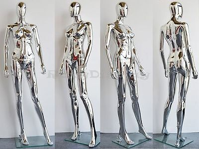 Female Unbreakable Plastic Mannequin Display Head Turns Dress Form #PS-SF1SCEG